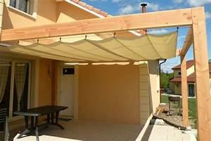 Pergola avec la toile tendue porches pinterest toile for Toile tendue exterieur terrasse 19 abris voitures entreprises