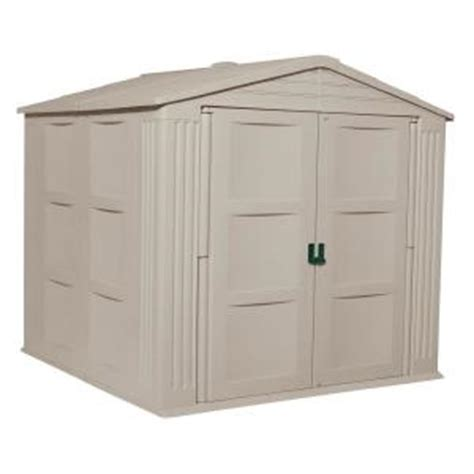 suncast storage sheds home depot suncast 7 ft 9 75 in x 7 ft 10 75 in resin storage