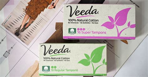 Veeda's 100% Natural Cotton Feminine Hygiene Products (and