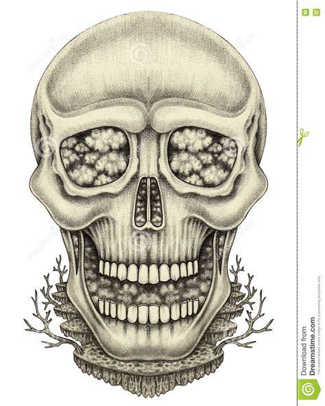 Art Skull Surreal Stock Photography Cartoondealer