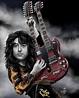 Jimmy Page 1975 Caricature – Paul King Artwerks
