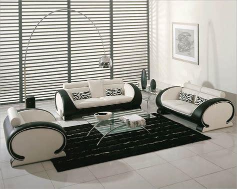 Black White Sofa Set by White And Black Bonded Leather Sofa Set 44l2811