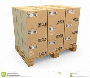 Transport Boxes On Freight Pallet Stock Photo - Image ...