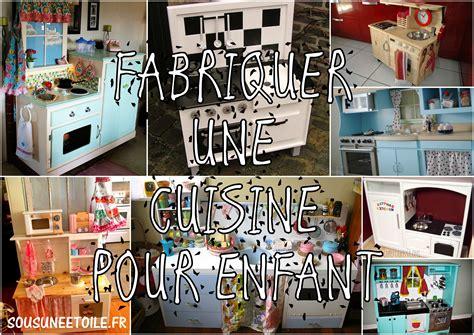 fabriquer cuisine fabriquer une cuisine pour enfant sous une etoile