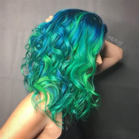 Electric Eel Hair Color In Neon Hair Colors Ideas
