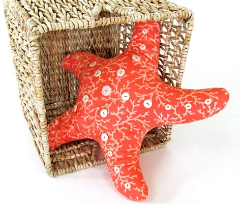 starfish shaped pillow starfish pillow with button accents sew4home
