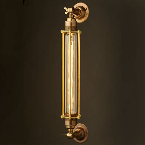 brass bulb cage wall mount l e27
