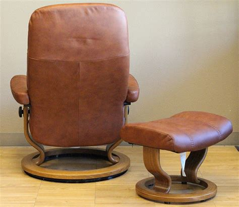 Stressless Diplomat Recliner Sale by Stressless Diplomat Small Consul Batick Caramel Leather By
