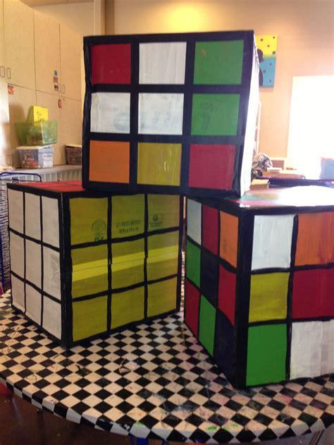 cardboard box rubix cube early childhood education