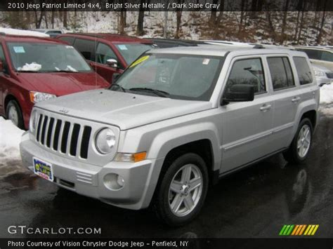 silver jeep patriot interior bright silver metallic 2010 jeep patriot limited 4x4