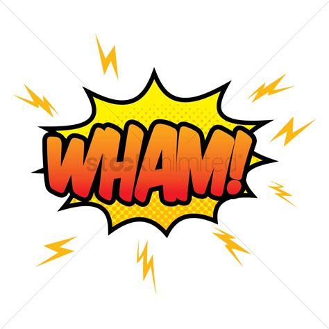 Wham Comic Wording Vector Image Stockunlimited