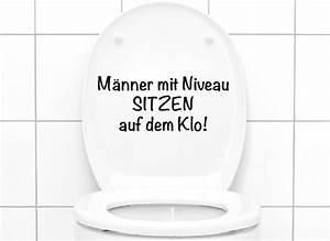 Wandtattoo Wc Sprüche : wandtattoo wc aufkleber spruch m nner mit niveau w5495 wc aufkleber wandtattoos nach ~ Markanthonyermac.com Haus und Dekorationen