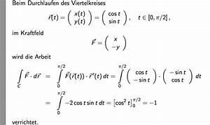 Arbeit Berechnen : arbeit arbeitsintegral entlang einer parabel berechnen nanolounge ~ Themetempest.com Abrechnung