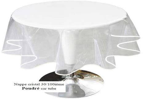 toile ciree transparente ronde nappe ronde transparente diametre 160 table de lit