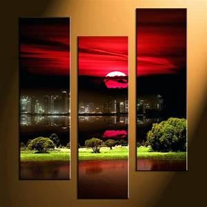 3 Piece Wall Decor Decorative Mirrors Feather Canvas Set