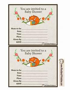 Woodland Creatures Baby Shower Invitations Woodland