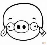 Angry Birds Coloring Pig Colorear Corporal Printable Dibujos Kleurplaat Ausmalbilder Kleurplaten Moustache Silhouette Helmet Minion King Afdrukken Schwein Zum Ausmalbild sketch template