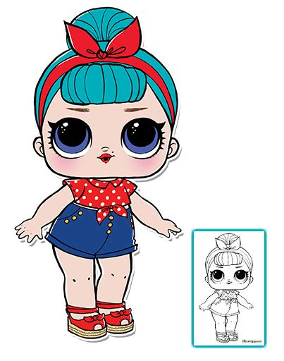 lol surprise doll coloring pages page  color