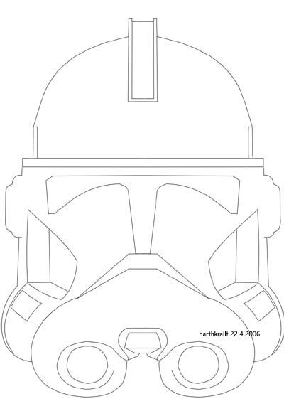 Clone Trooper Kleurplaat by Clone Helmet Coloring Pages