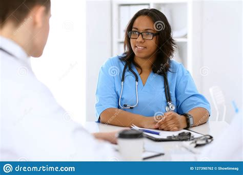 female african american medical doctor  colleagues