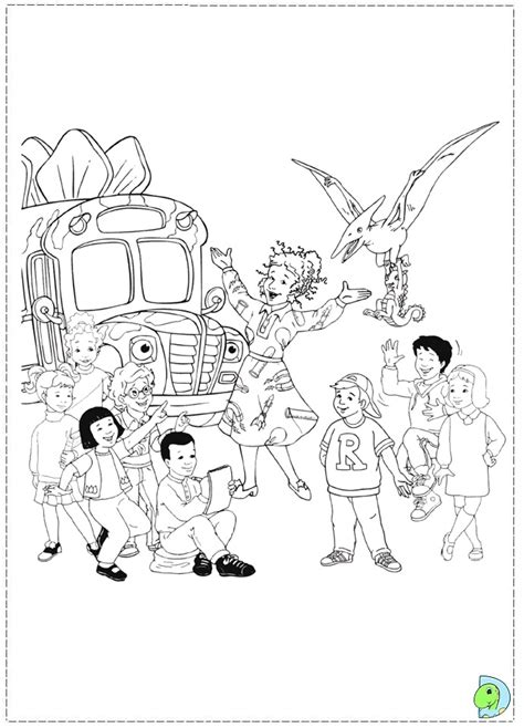 magic school bus coloring pages    print