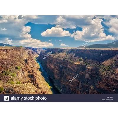 Rio Grande River and gorge near Taos New Mexico Stock