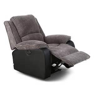 Recliner Armchair Fabric by Postana Jumbo Cord Fabric Power Recliner Armchair Electric