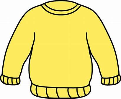 Clip Sweater Clipart Yellow Sweatshirt Jumper Clothes