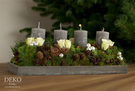 Weihnachtsdeko Adventskranz by Weihnachtsdeko Basteln Adventskranz Im Naturlook Deko