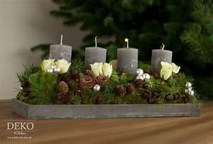 Adventskranz Ideen 2016 : weihnachtsdeko basteln adventskranz im naturlook deko kitchen ~ Frokenaadalensverden.com Haus und Dekorationen
