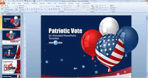 patriotic powerpoint template buon giorno dell indipendenza modelli di powerpoint per il 4 luglio