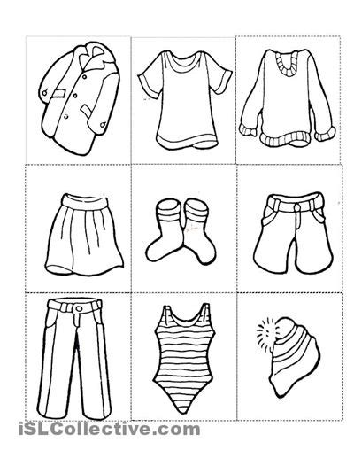 clothes free printable kindergarten worksheets 715 | bc9914fff7b2d2e43736630f84b7b5a5 worksheets for preschoolers clothes exercises english