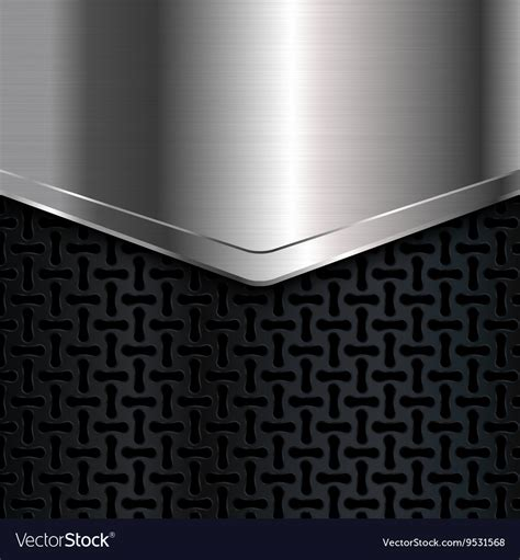 Black And Silver Background Metal Background Black And Silver Background Vector Image