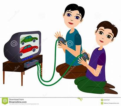 Playing Games Clipart Cartoon Friends Boys Clipground
