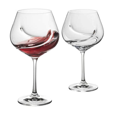 trudeau cuisine trudeau set of 2 turbulence wine glasses ares cuisine