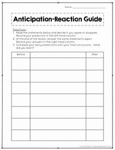 Hook Your Students  Anticipation Guides