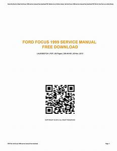 Ford Focus 1999 Service Manual Free Download By