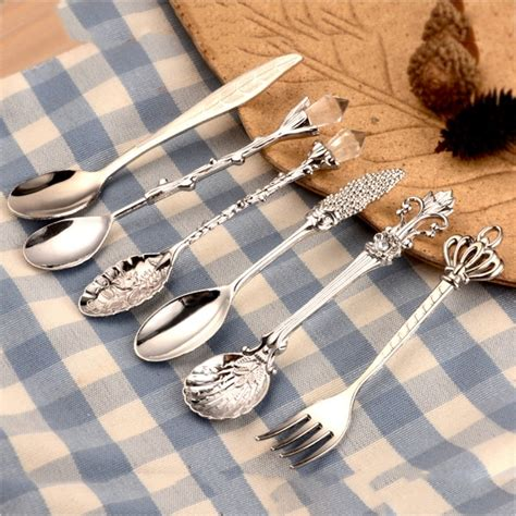 Detailed information for anyone buying ultimately, the kind of coffee accessories that you will need to make coffee will depend on things. 6pcs mini spoon coffee accessories Fork Royal Style Metal Carved Mini Coffee Spoons vintage ...