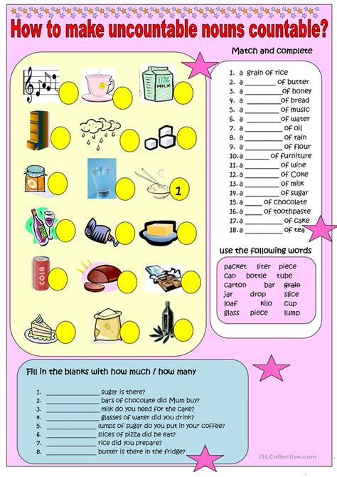 All Worksheets » Nouns Countable And Uncountable Worksheets  Printable Worksheets Guide For