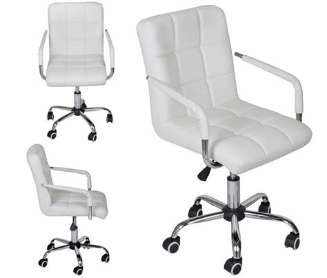 white office desk chair white modern office leather chair hydraulic swivel