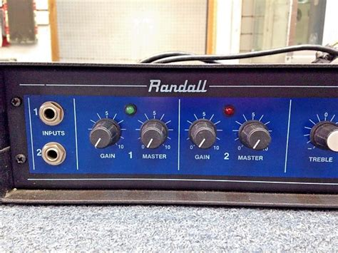 Randall Rg100ht Guitar Amplifier Solid State Rack Mount
