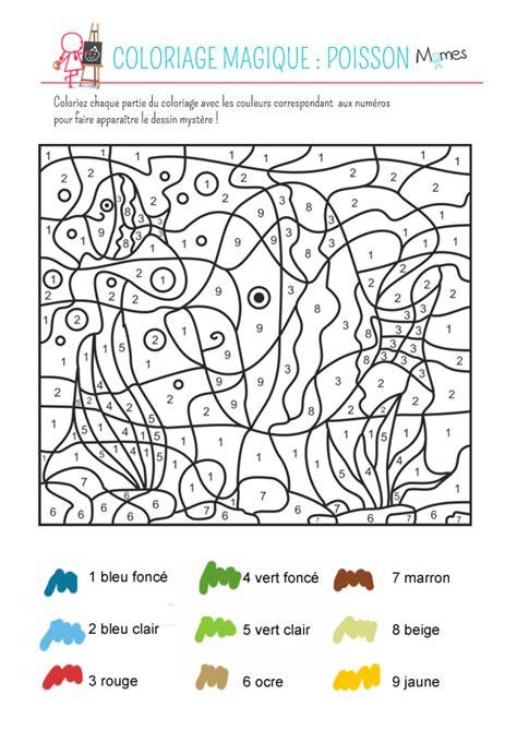 chambre des metiers var coloriage magique le poisson momes
