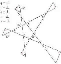 Find Missing Angles Worksheet Find The Missing Angle Worksheet Abitlikethis
