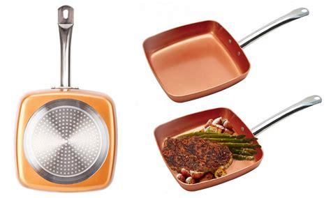 copper cookware chef  square pan