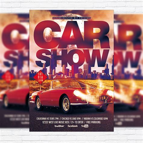Show Template by Car Show Premium Flyer Template Cover