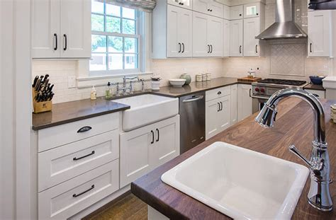 updated farmhouse kitchen integrates butlers pantry cozy breakfast nook silent rivers