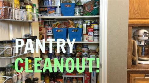 PANTRY CLEAN OUT + TOUR   CLEAN WITH ME - YouTube