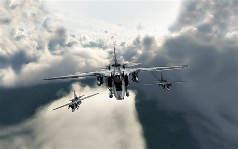 Digital Art, Clouds, Aircraft, Military Aircraft, Jet