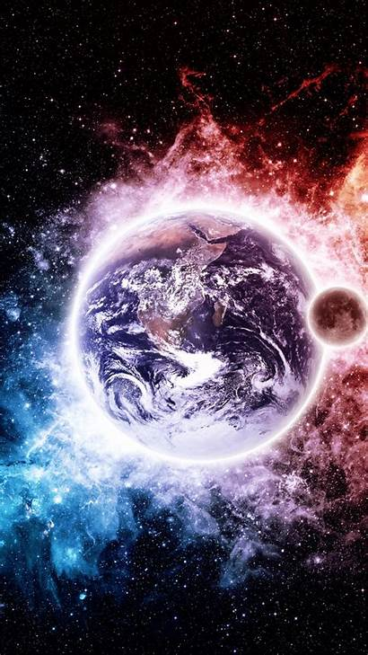 Earth Wallpapers Iphone Space Cool Background Desktop
