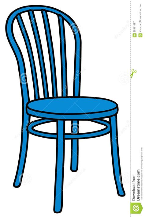 dessin de chaise blue wooden chair stock vector image 60311487
